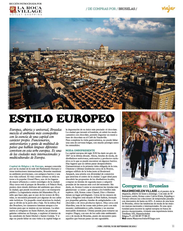 De compras en Bruselas - La Vanguardia/Viajar - Text: Judith Arnalot